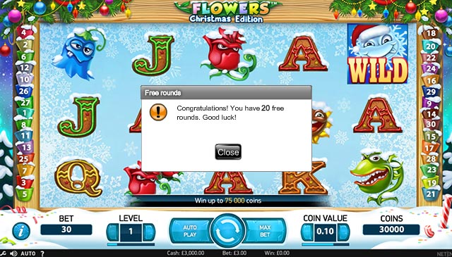 Flowers Christmas Edition Slot - Try for Free Online