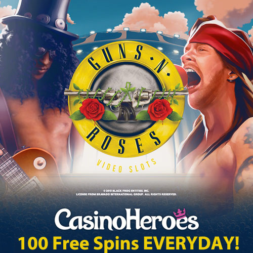CasinoHeroes-Guns_and_Roses_FreeSpins_EVERYDAY