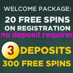 Cherry Casino 2016 Welcome Offer: 20 Free Spins No Deposit Required + 300 Free Spins Welcome Package