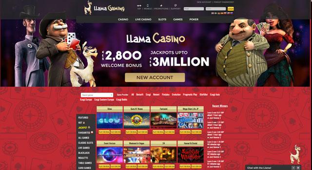 Llama Gaming Casino Review