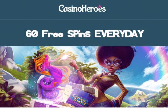 CasinoHeroes-60-freespins-everyday