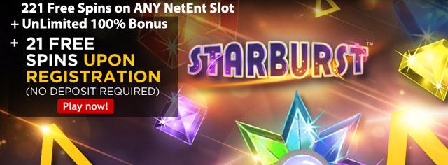 twentyone-casino-221-FreeSpins-On-Any-NetEnt-Slot
