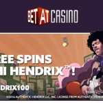 100 Jimi Hendrix free spins bonus code now available at BetAt Casino