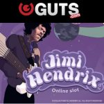 50 Jimi Hendrix Free Spins + MASSIVE 250% Bonus + 10 Free Spins for first time depositors at Guts Casino