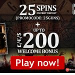 New Lucks Casino Bonus Code to unlock 25 Guns N' Roses Free Spins No Deposit Required