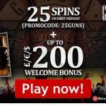 New Lucks Casino Bonus Code to unlock 25 Guns N' Roses Free Spins No Deposit Required