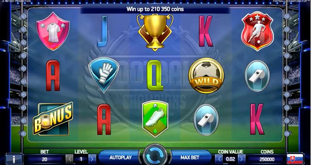 video slot free online champions cup football