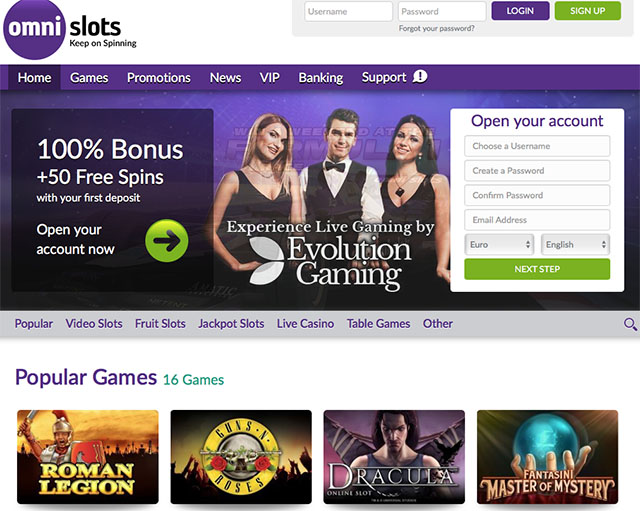 OmniSlots Casino Review