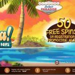 New Jackpot Paradise Casino Bonus Code June 2016 to unlock 50 Free Spins No Deposit Required