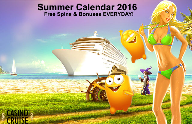 Casino Cruise 2016 Summer Calendar