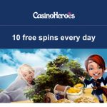 10 Free Spins EVERYDAY at CasinoHeroes