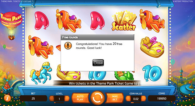 ThemePark Free Spins No Deposit Required