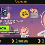 Get No Deposit When Pigs Fly Free Spins at BGO Casino + a 200% Bonus & 180 Free Spins