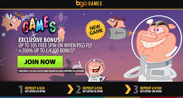 online casino bonus when pigs fly