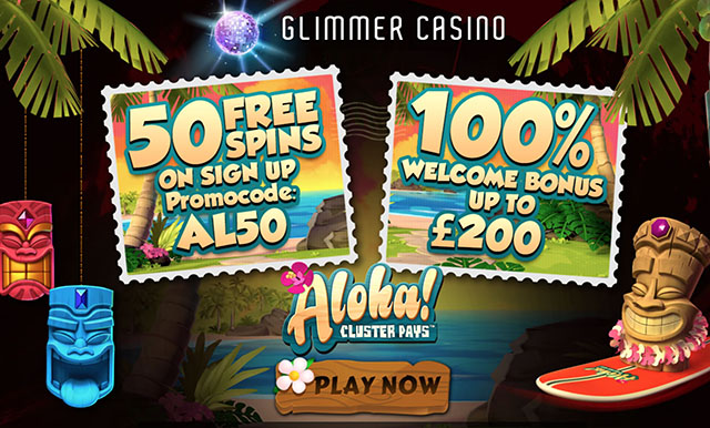 Glimmer Casino No Deposit Free Spins Bonus Code for August 2016