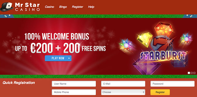 Mr Star Casino Review Netentfreespins Info 100 Up To 200