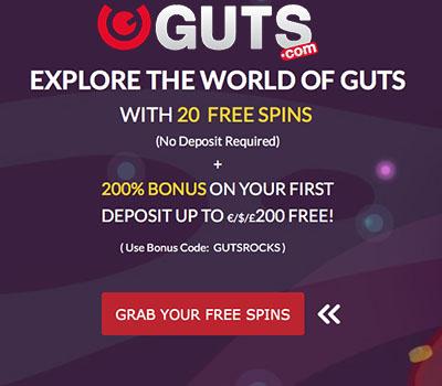 2017 Guts Casino Bonus Code