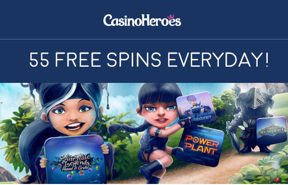 55 Free Spins EVERYDAY