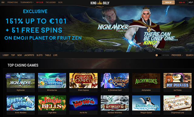 online casino king billy