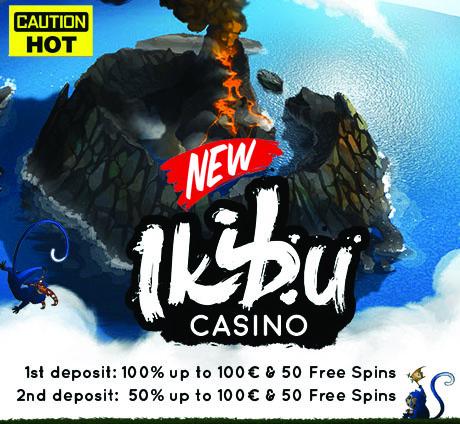 ikiBu Casino: 100% Bonus + 50 Free Spins