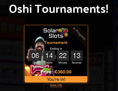 Oshi Casino Tournaments