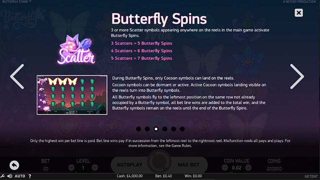 Butterfly Staxx Slot