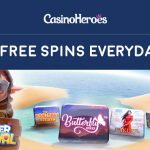 Summer Bonus Spins are Here! Get 55 Free Spins on various slots EVERYDAY at CasinoHeroes