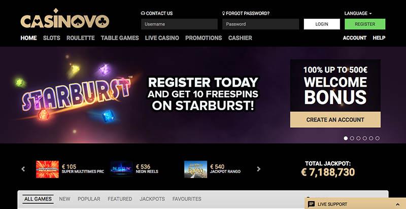 Casinovo Casino Review