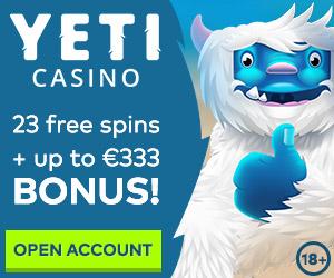 yeti casino welcome bonus
