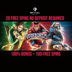 Bet it All Casino AWESOMENESS ALERT!! Get 20 No Deposit Free Spins on Registration, a 100% Bonus up to €200 + 100 Free Spins on 1st Deposit & upto 13% Cashback