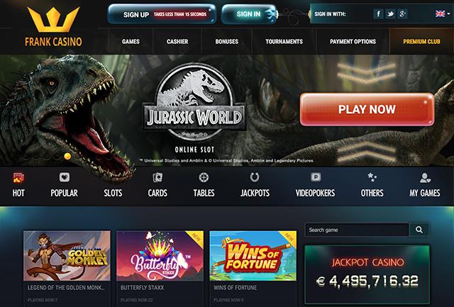 казино frank официальный сайт