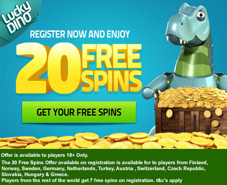 LUCKY DINO CASINO - 20 No deposit free spins **EXCLUSIVE**