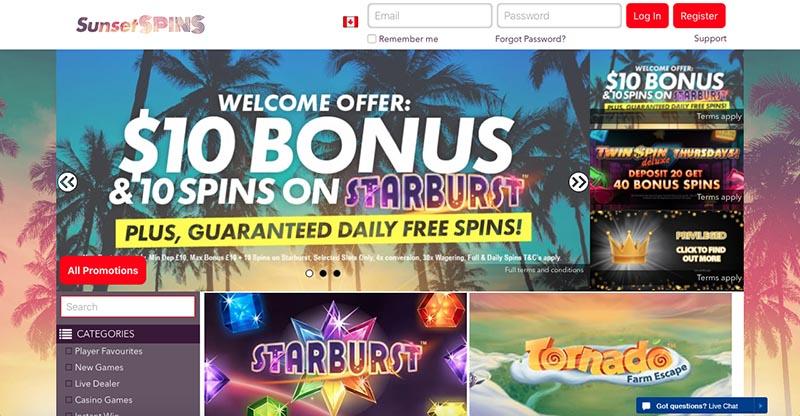 casino deposit 10 play with