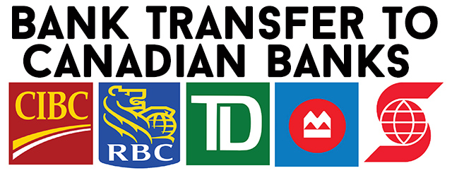 bank transfer to a Canadian bank account