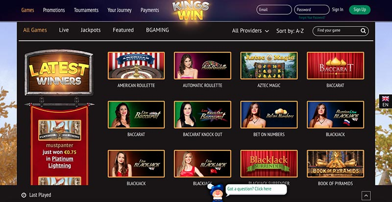 Kingswin Casino Review